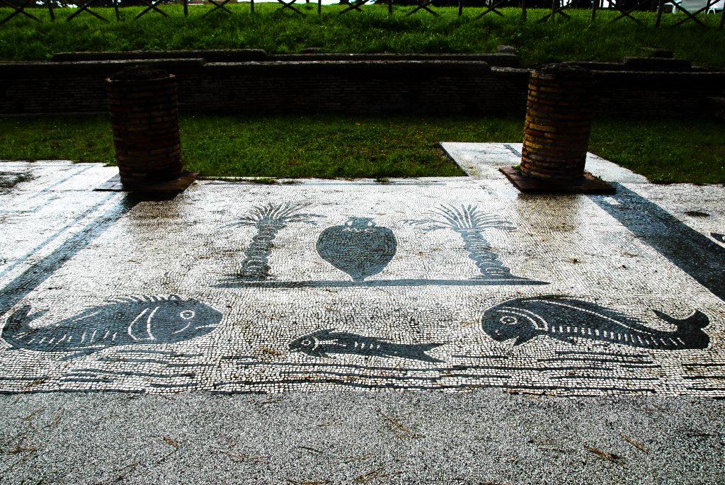 Mosaic,On,The,Shop,Floor,In,Piazzale,Delle,Corporazioni,,Ostia